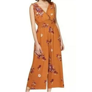 NWT Floral Yellow Orange Jumpsuit.